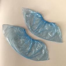 Бахилы полиэтиленовые голубые, 2.8 г (стандарт), 50 пар