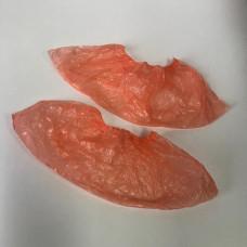Бахилы полиэтиленовые оранжевые, 2.8 г (стандарт), 50 пар