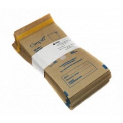 Крафт-пакеты, бумажные, самоклеющиеся, коричневые, 75*150 мм, 100 шт