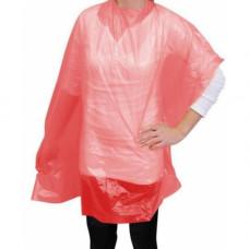 Пеньюар, ПВД, розовый, 100*160 см, 50 шт.