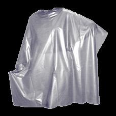 Пеньюар, ПВД, серебро, 100*160 см, 50 шт.