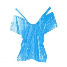 Пеньюар, ПВД, синий, 100*160 см, 50 шт.